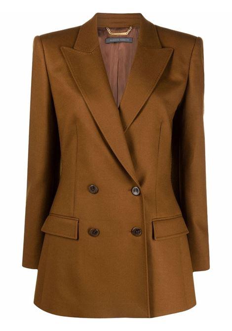 Blazer doppiopetto sartoreale in marrone - donna ALBERTA FERRETTI | A05115123146
