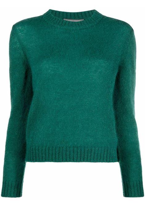 Maglione in maglia fine in verde - donna ALBERTA FERRETTI | A09275103389