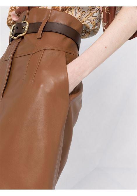Gonna a vita alta marrone chiaro- donna ALBERTA FERRETTI | A3702517598