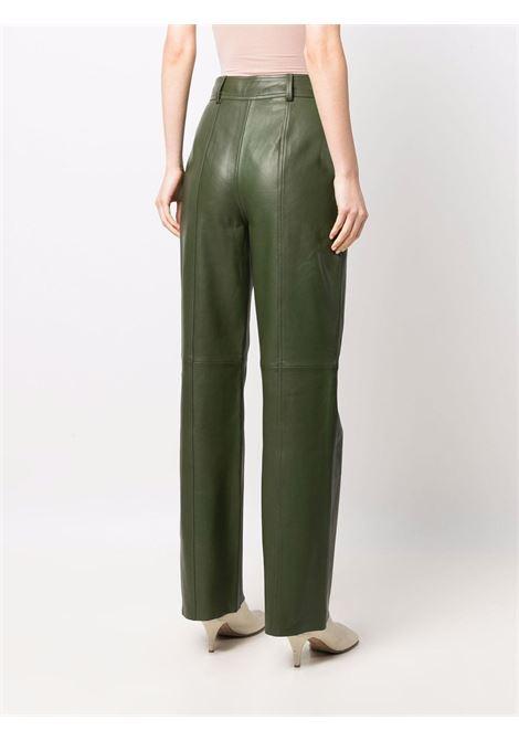 Pantalone di pelle verde-donna ALBERTA FERRETTI | A37055175401