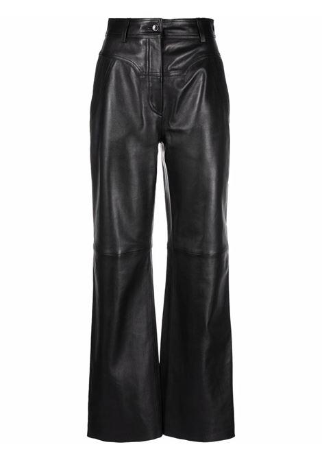 Pantalone di pelle nero-donna ALBERTA FERRETTI | A37055175555