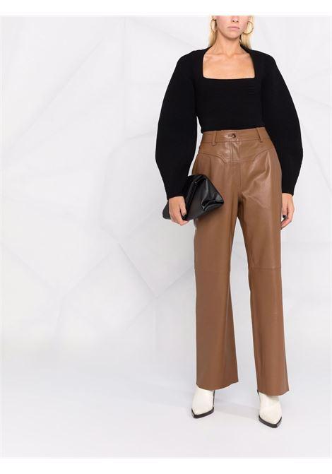 Pantalone di pelle marrone-donna ALBERTA FERRETTI | A3705517598