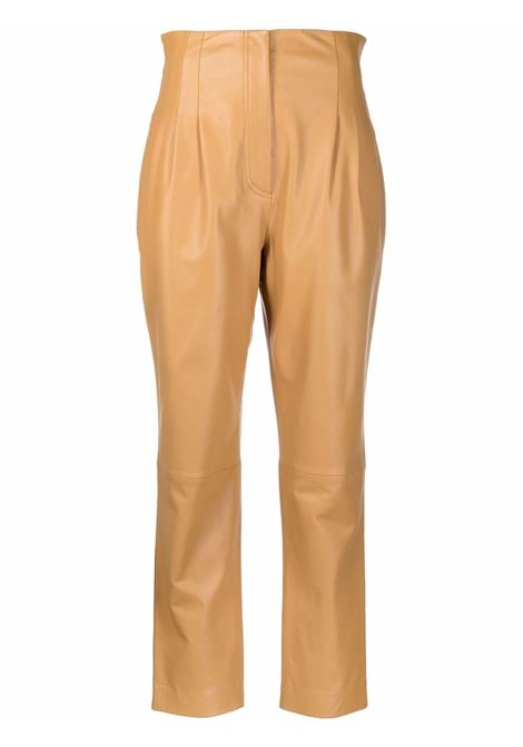 Pantaloni a vita alta in beige - donna ALBERTA FERRETTI | A37136675148