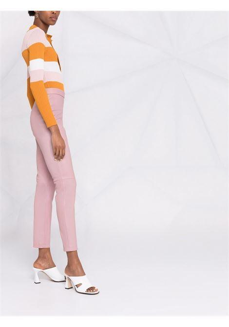 Pantaloni con vita elasticizzata in rosa - donna ALBERTA FERRETTI | A37166676187