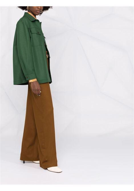 Giacca-camicia con bottoni in verde - donna ALBERTA FERRETTI | V05085136390