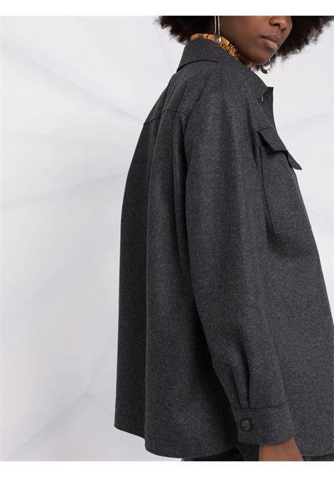 Giacca-camicia con bottoni in grigio - donna ALBERTA FERRETTI | V05085136509