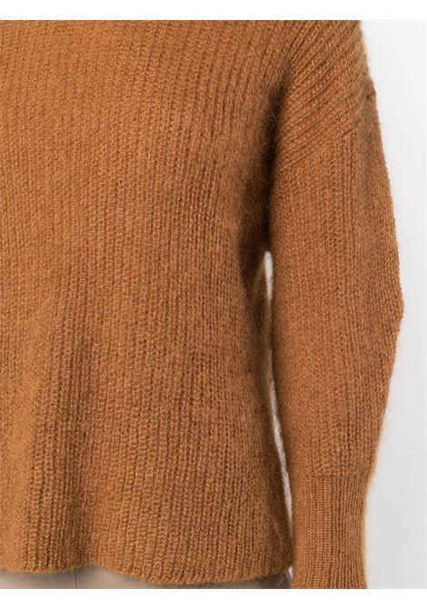 Maglione a collo alto in maglia chunky in marrone - donna ALBERTA FERRETTI | V0916510385