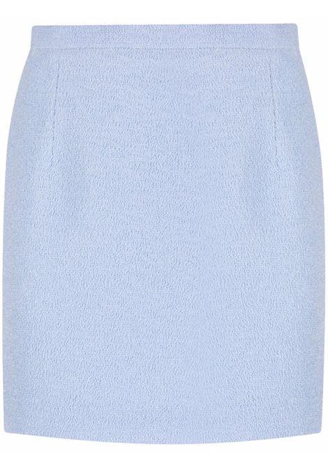 Bouclé mini skirt in powder blue - women  ALESSANDRA RICH   FAB1441F32911874