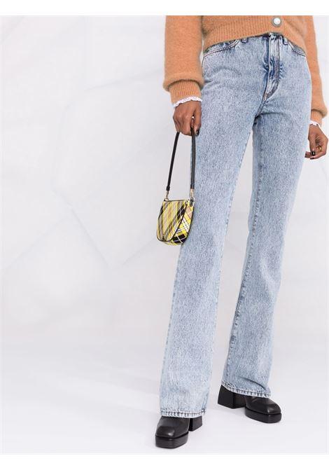 High-waisted flared leg jeans in light blue - women  ALESSANDRA RICH | FAB2448F33531961