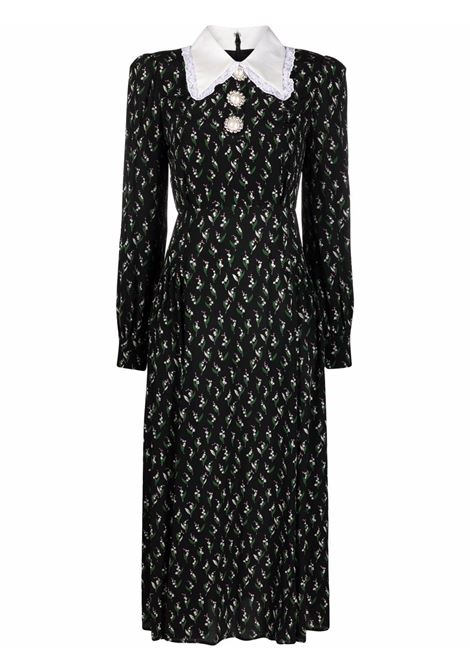Floral-print maxi dress in black and multicolour - women  ALESSANDRA RICH | FAB2533F3243900