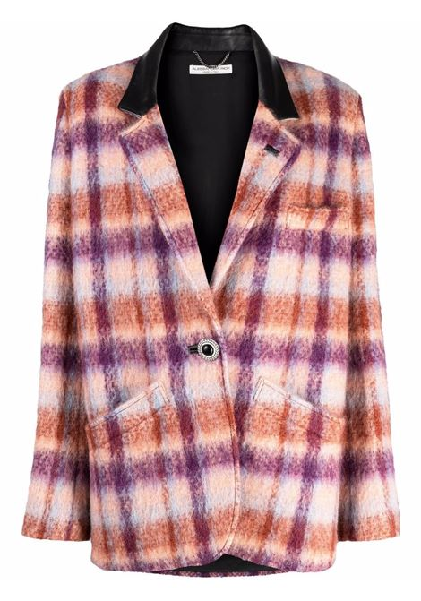 Oversized blazer jacket in peach and multicoulor -women  ALESSANDRA RICH | FAB2552F32771817