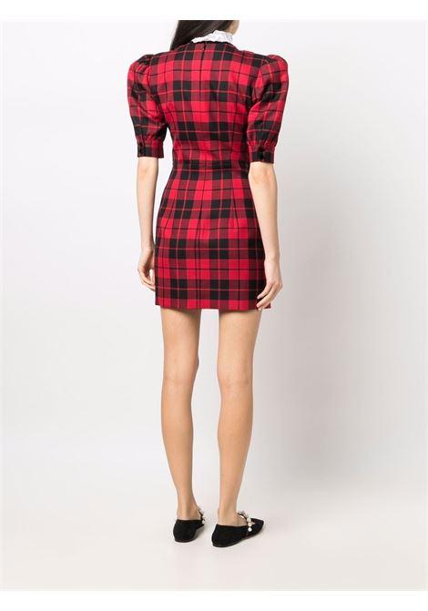 Tartan check print wool dress in red and black - women  ALESSANDRA RICH   FAB2557F33111993