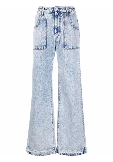 High-waisted flared leg jeans in light blue - women ALESSANDRA RICH | FAB2604F33531961