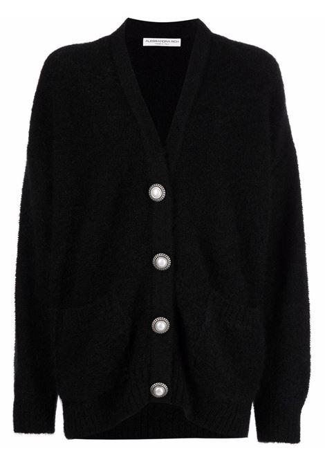 Pearl butttons cardigan in black - women  ALESSANDRA RICH | FAB2633K23559008