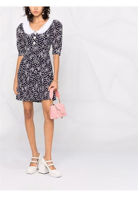 Floral-print mini dress in navy and white - women  ALESSANDRA RICH   FAB2642F33031944