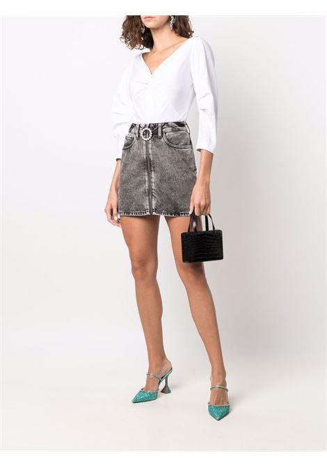 Crystal-embellished mini skirt in dark grey - women  ALESSANDRA RICH | FAB2652F33491739