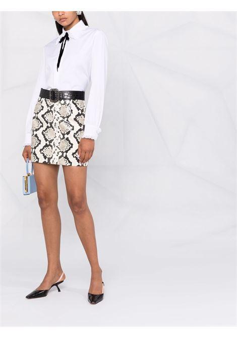 Snakeskin-effect mini skirt in light grey and multicolour - women  ALESSANDRA RICH | FAB2664L33731812
