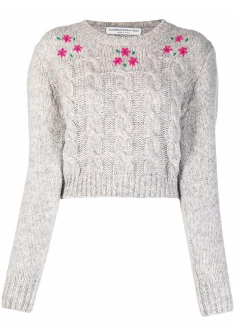 Grey cropped jumper - women  ALESSANDRA RICH | FAB2674K33651310