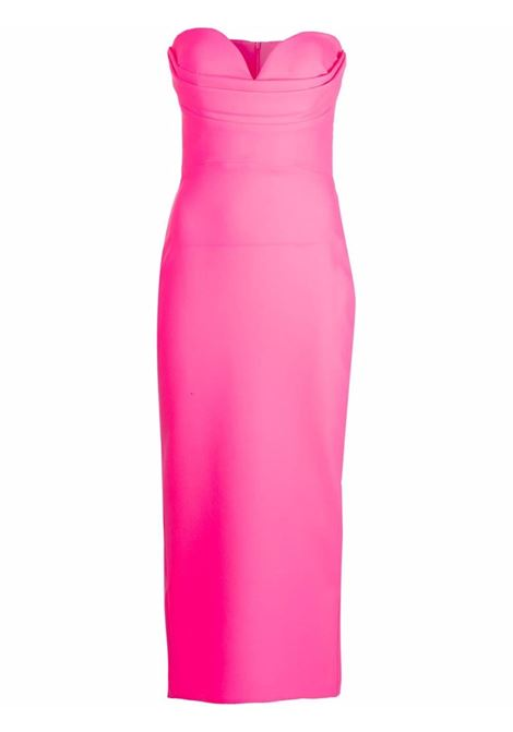 Sweetheart neck midi dress in pink - women  ALEX PERRY | D755NNPNK