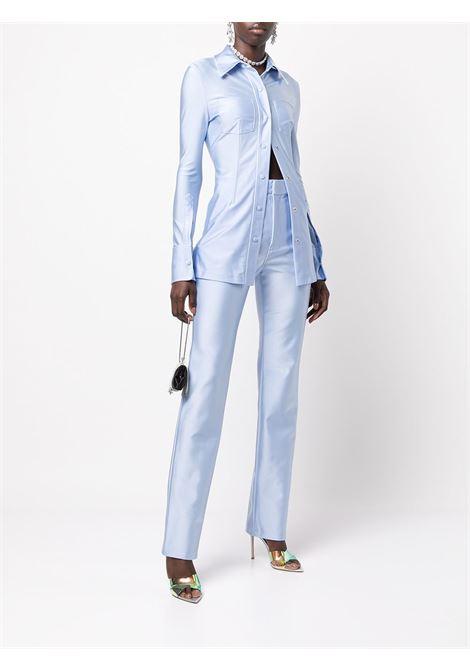 Light-blue pintuck detail shirt - women  ALEXANDER WANG | 1CC3211489467