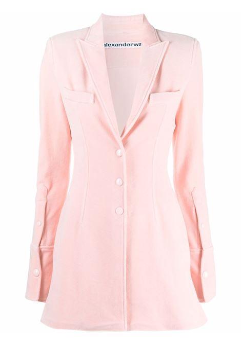 Blazer monopetto lungo rosa - donna ALEXANDER WANG | 1CC3212290691