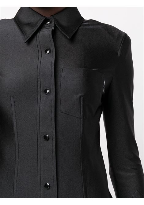 Black satin shirt dress - women  ALEXANDER WANG | 1CC3216408001