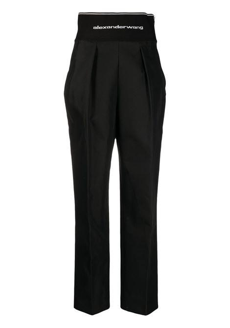 Logo waistband trousers black - women ALEXANDER WANG | Trousers | 1WC2214345001