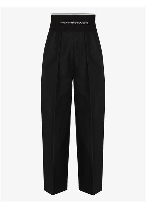 Logo waistband cropped trousers black - women ALEXANDER WANG | 1WC2214357001