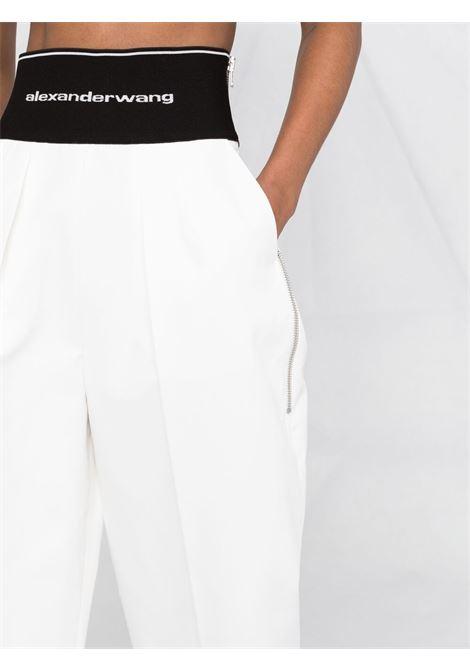 Logo waistband cropped trousers white - women ALEXANDER WANG | 1WC2214357110
