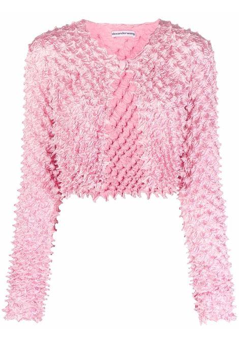 Pink Shibori satin cardigan - women  ALEXANDER WANG | 1WC3211490952