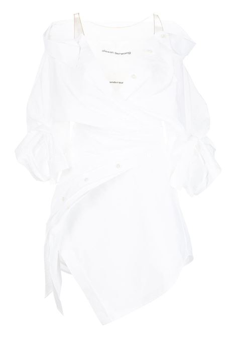 Chemisier asimmetrico in bianco - donna ALEXANDER WANG | 1WC3216385100