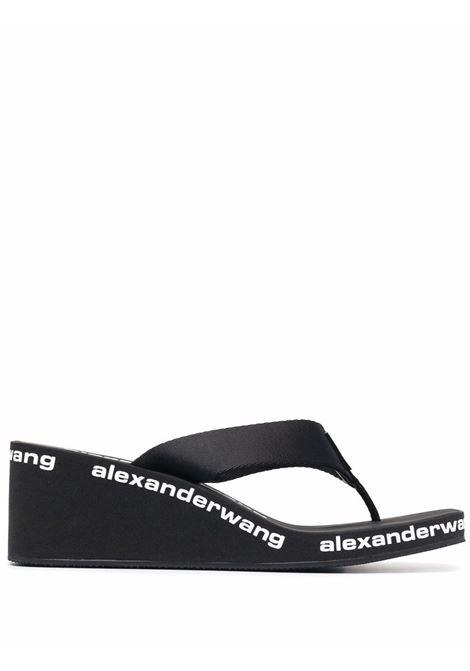 Ciabatte con rialzo e logo nero- donna ALEXANDER WANG | 30321S019001