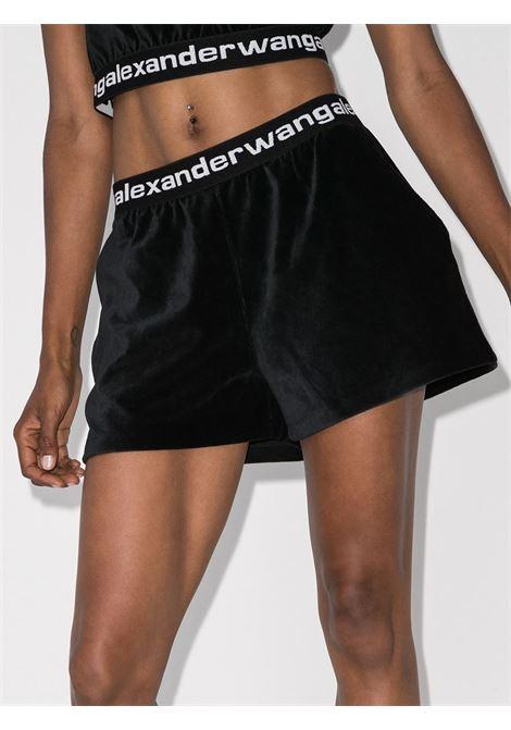 Logo waistband shorts black - women ALEXANDER WANG | 4CC1204025001