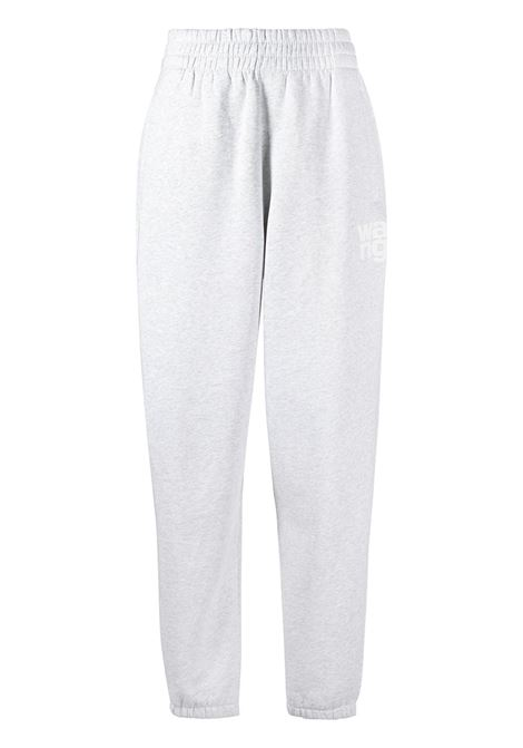 Foundation terry track trousers grey - women ALEXANDER WANG | Trousers | 4CC1204061050
