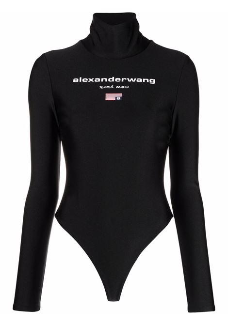 Body a collo alto con logo in nero - donna ALEXANDER WANG | 4CC3217020001