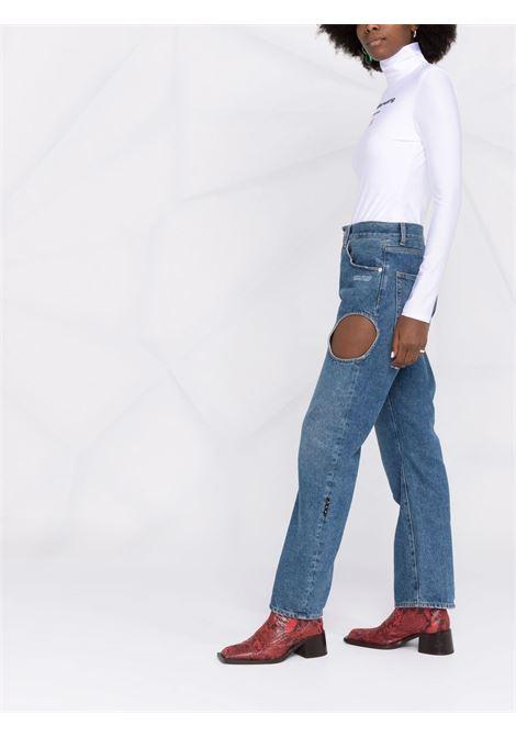 White logo-print bodysuit - women  ALEXANDER WANG | 4CC3217020100