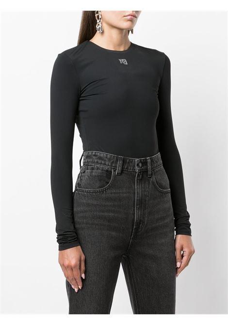 Black logo-print bodysuit - women  ALEXANDER WANG | 4CC3217032001
