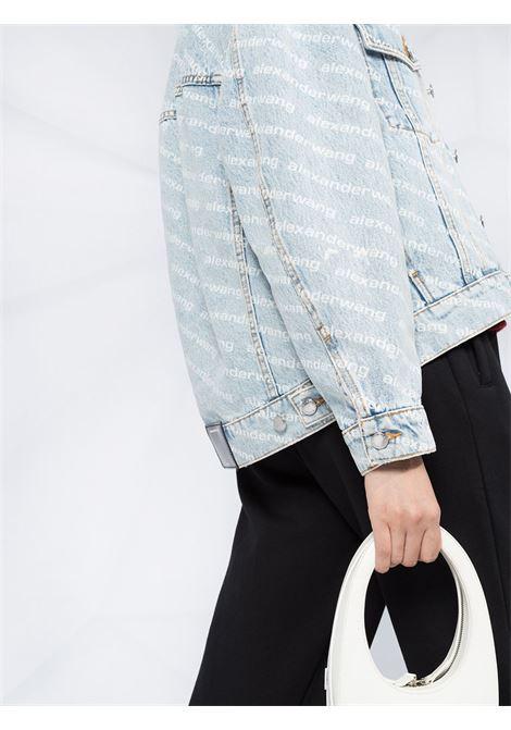 Light blue falling back logo-print denim jacket - women  ALEXANDER WANG | 4DC2202756270