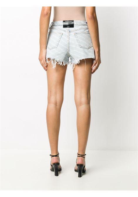 Light-blue bite high-waisted denim shorts - women  ALEXANDER WANG | 4DC2204781270