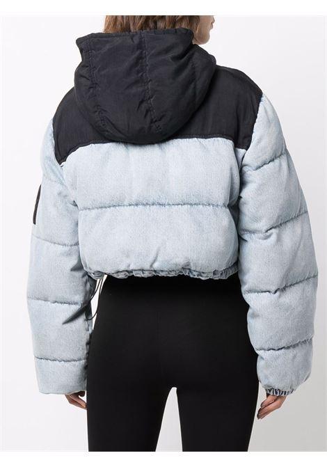 Two-tone cropped denim puffer jacket - women  ALEXANDER WANG | 4DC4212010281