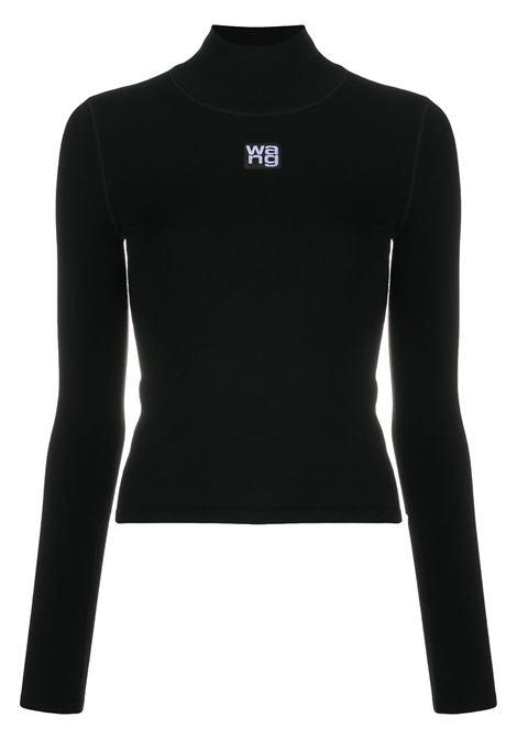 Top a collo alto con logo in nero - donna ALEXANDER WANG | 4KC2201012001