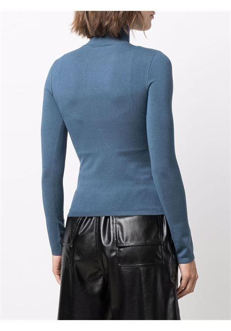 Winter blue high-neck logo-patch top - women  ALEXANDER WANG | 4KC2201012469