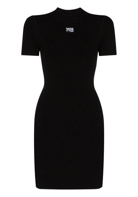 Logo-print fitted mini dress black - women  ALEXANDER WANG | Dresses | 4KC2206013001