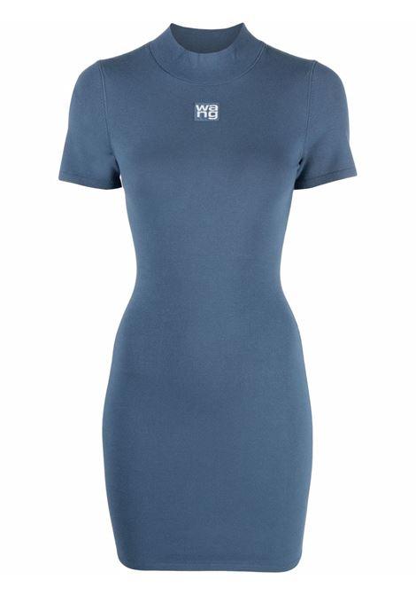 Winter blue roll-neck fitted dress - women  ALEXANDER WANG | 4KC2206013469