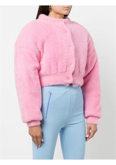 Pink furry-effect cropped cardigan - women  ALEXANDER WANG | 4KC4213025671
