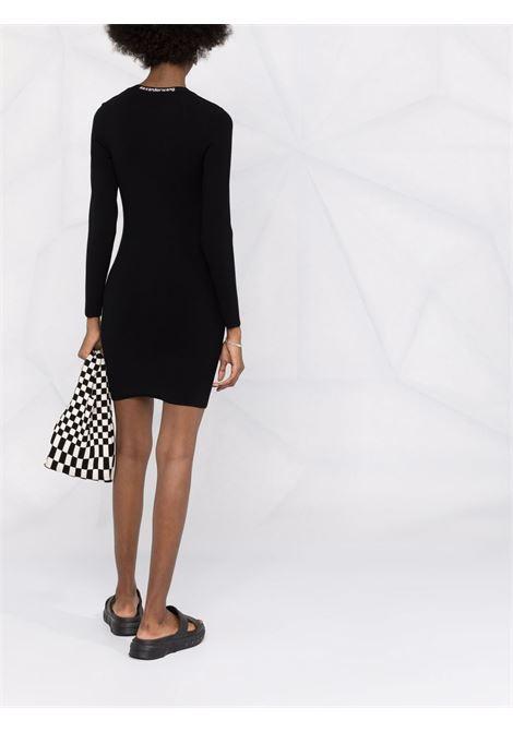 Black logo-jacquard scoop dress - women  ALEXANDER WANG | 4KC4216032001