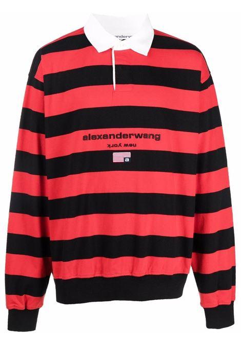 Felpa a righe in rosso e nero - unisex ALEXANDER WANG | UCC3211418624