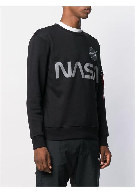 Felpa con stampa Nasa in nero - uomo ALPHA INDUSTRIES | 17830903