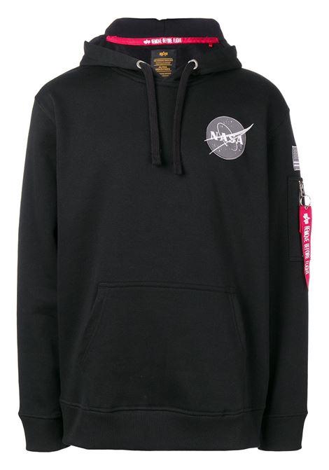 Felpa con cappuccio NASA space shuttle in nero - uomo ALPHA INDUSTRIES | 17831703