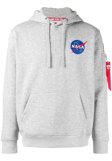 Felpa con cappuccio NASA space shuttle in grigio - uomo ALPHA INDUSTRIES | 17831717